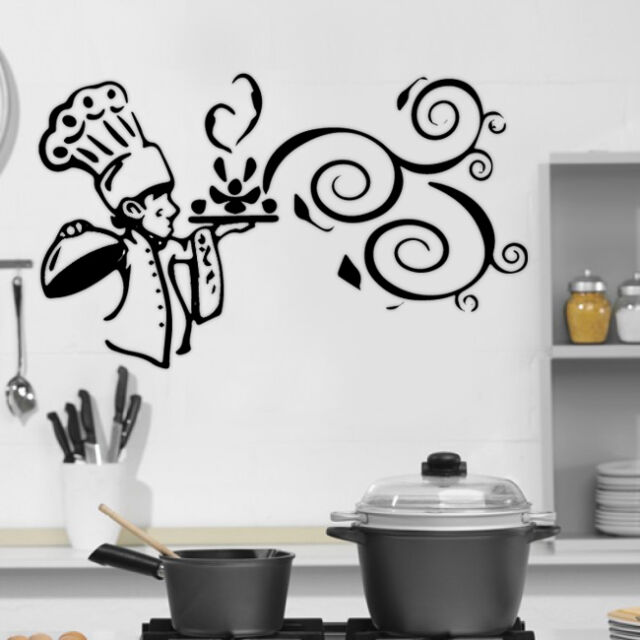 Kitchen Cook Food Quote Wall Stickers Art Dining Room Removable Decals DIY Part 17