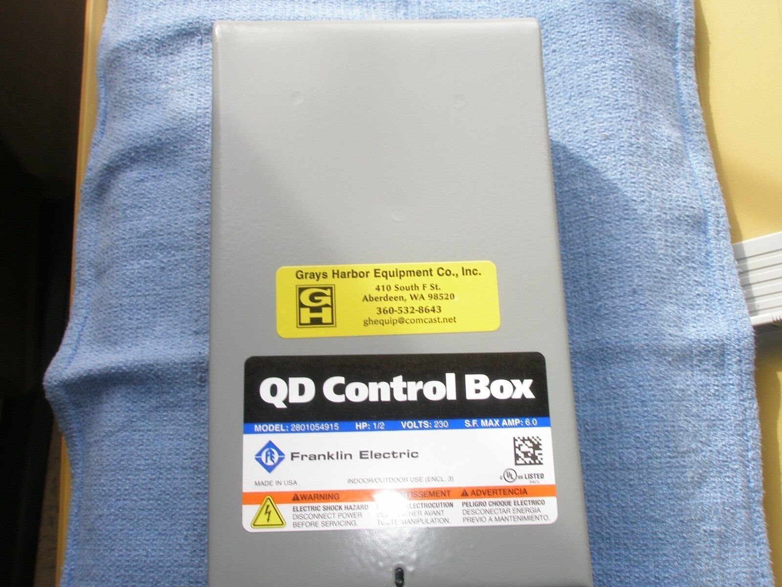 Wiring Diagram For Franklin Model 2801084910 44 Qd Control Box S L1600 Electric Ebay At