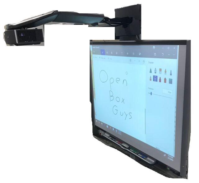 smartboard 77 diagonal dual touch whiteboard uf65 projector rh ebay com smart uf65 projector installation manual smartboard uf65 projector manual