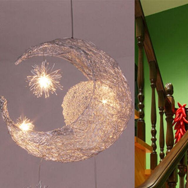 Moon star children kid child bedroom led pendant lamp chandelier moon star pendant lamp led chandelier ceiling light children child kid bedroom aloadofball Images