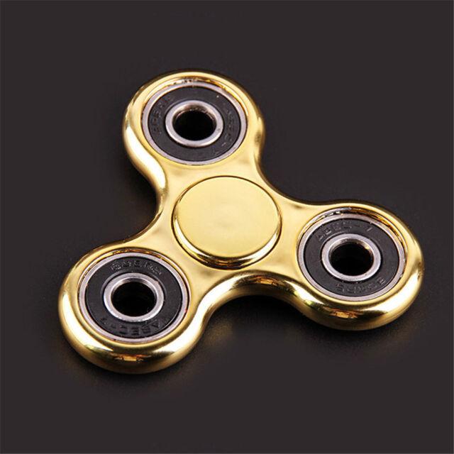 Fid Spinner Luxury Gold Color Focus Desk Toy EDC Finger Gyro Hot