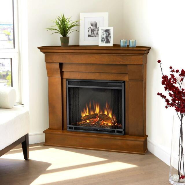 Real Flame Chateau Corner Indoor Ventless Electric Fireplace in ...
