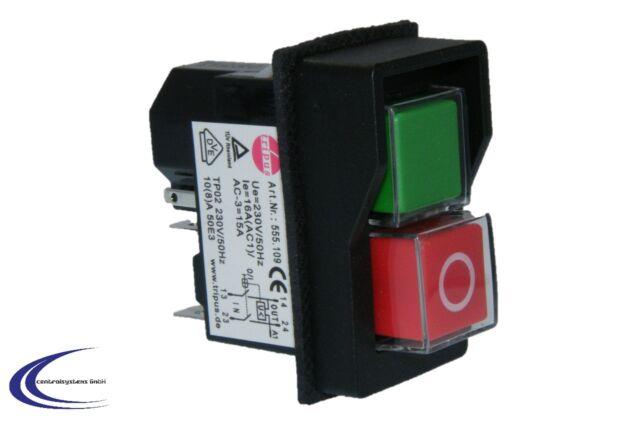 Tripus Ein/Aus Schalter mit Unterspannungsauslöser für Maschinen - Bohrmaschine