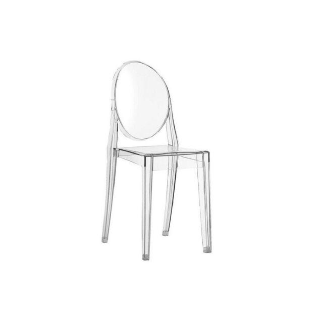 Sedia Chair Chaise Victoria Ghost Kartell Bianco coprente White ...