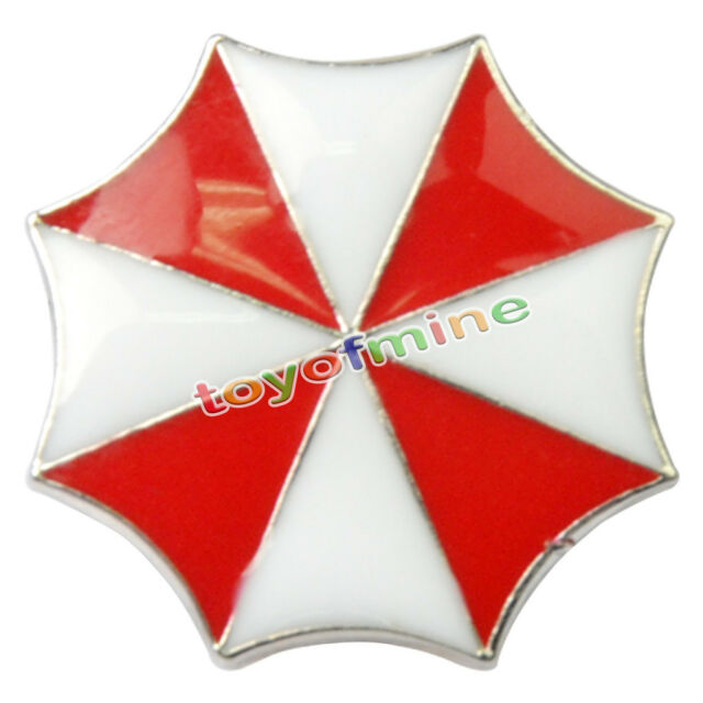Resident Evil Umbrella Corporation Logo Metal Badge Pin Brooche As