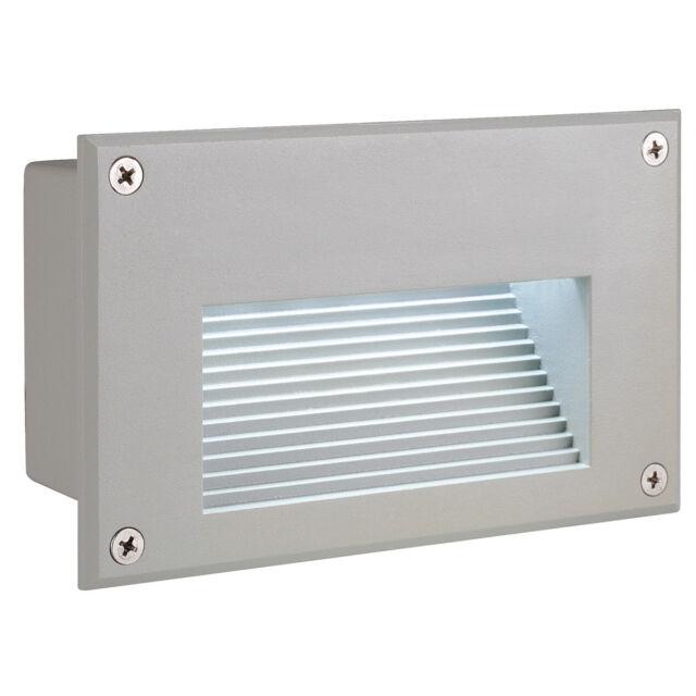intalite IP54 Außen Ziegel LED herunter Wandeinbau hell silber 6500K