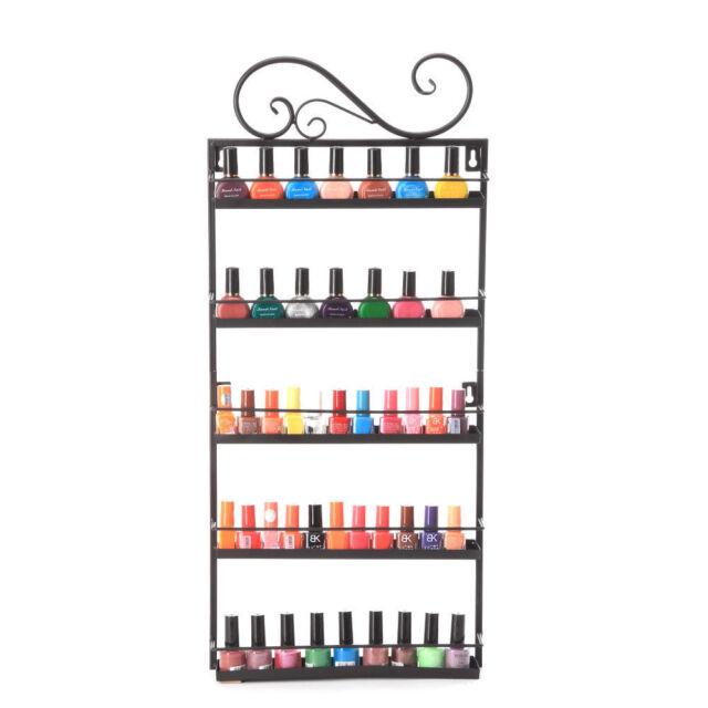 5 Tier 50 Bottles Nail Polish Display Wall Rack Organizer Stand ...