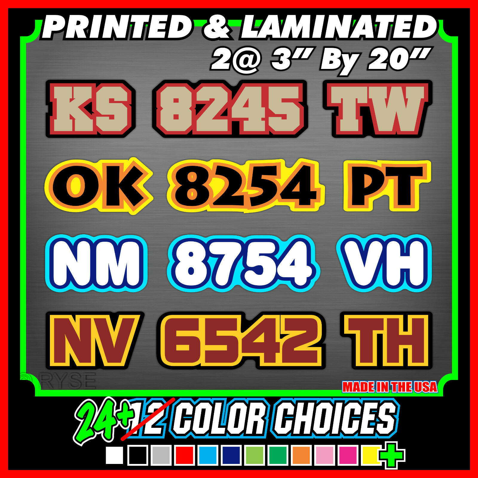 Custom Snowmobile Registration ID Numbers Letter Vinyl Decals - Custom vinyl decals numbers