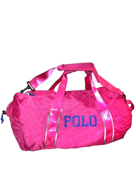 NWT Polo Ralph Lauren Large Carry On Duffle Bag Pink Packable