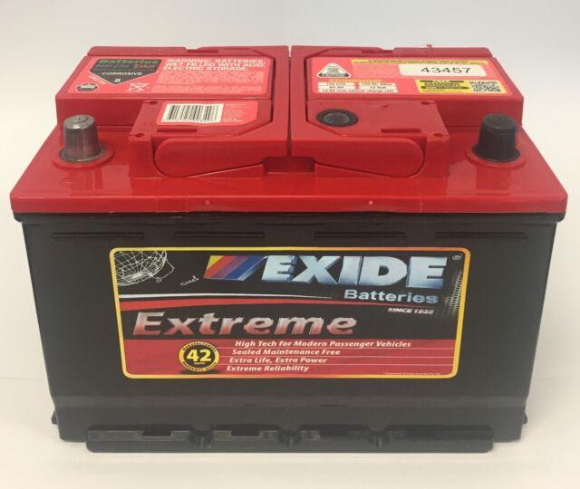 Exide Extreme Xdin55hmf Car Battery 600cca 42mth Ve VF