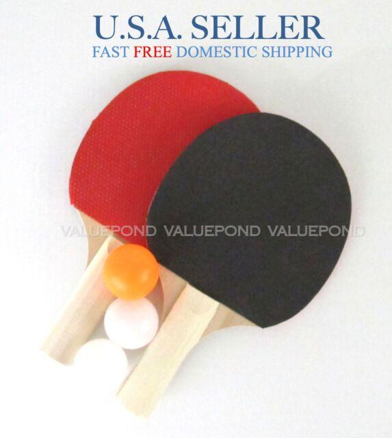 Table Tennis Paddles 2 PC Ping Pong 3 Balls Kids Toy Birthday Gift ...