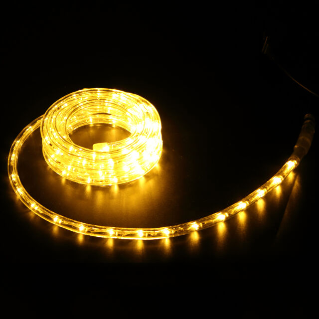 10ft 2 wire warm white led rope light inoutdoor home yard party 10ft inoutdoor led rope light home party 110v christmas decoration warm white aloadofball Gallery