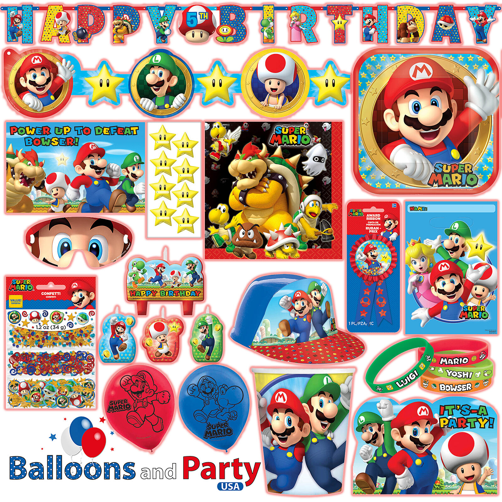 Nintendo super mario brothers postcard invitations 8ct party resntentobalflowflowcomponentncel monicamarmolfo Gallery
