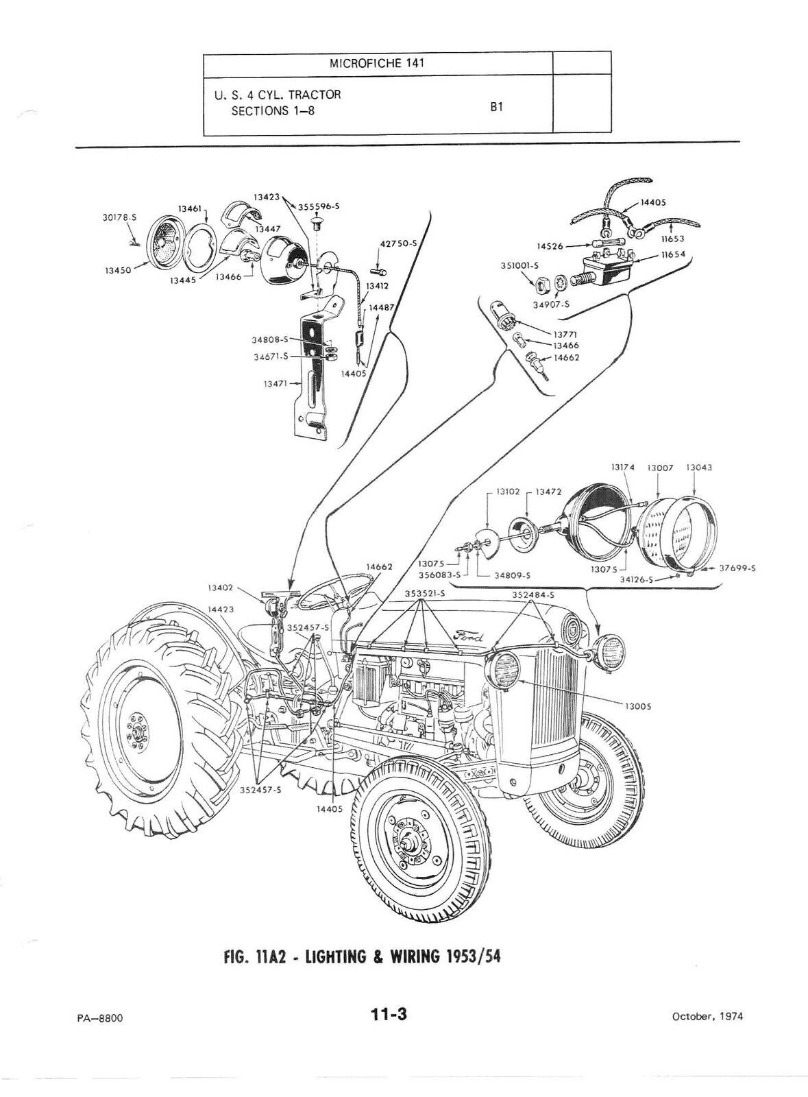 901 Ford Tractor Wiring Diagram Great Design Of Naa Electrical Parts Engine And Alternator