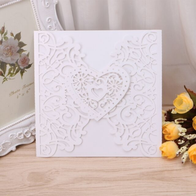 10pcs wedding invitation card kit personalized printing heart ebay picture 13 of 14 stopboris Image collections