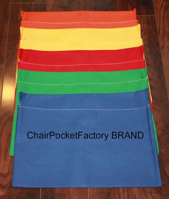 5 Medium Classroom Chair Pockets Seat Sacks Desk Organizer Durable