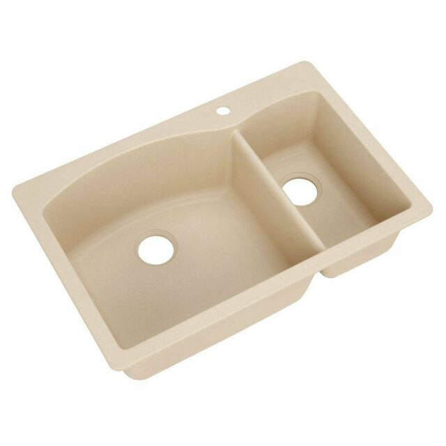 Blanco 441221 Diamond SILGRANIT II 1 1/2 Bowl Kitchen Sink in ...