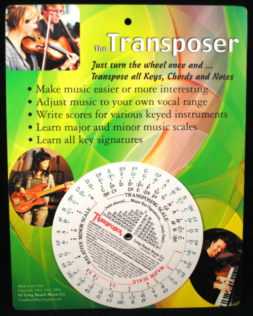 Music Transpose Tool for Notes Chords and Key Signature | eBay