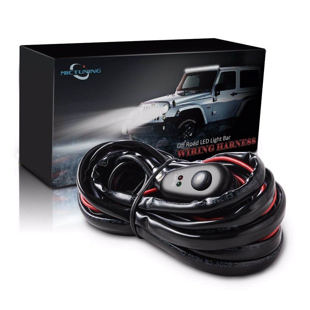 Mictuning Wiring Harness LED Light Bar 40amp Relay Fuse On-off ...