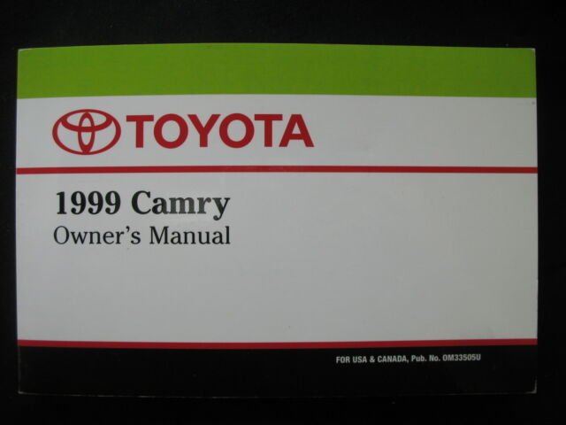 1999 toyota camry owners manual ebay rh ebay com 1999 toyota camry owners manual download 1999 toyota camry owners manual download