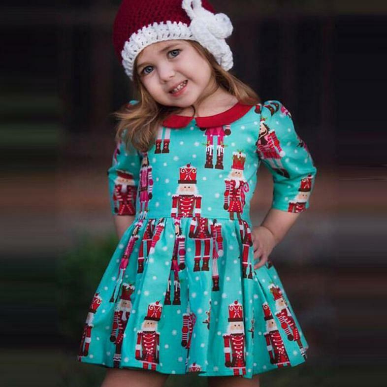 Toddler Kids Baby Girls Cartoon Princess Party Dress Christmas ...