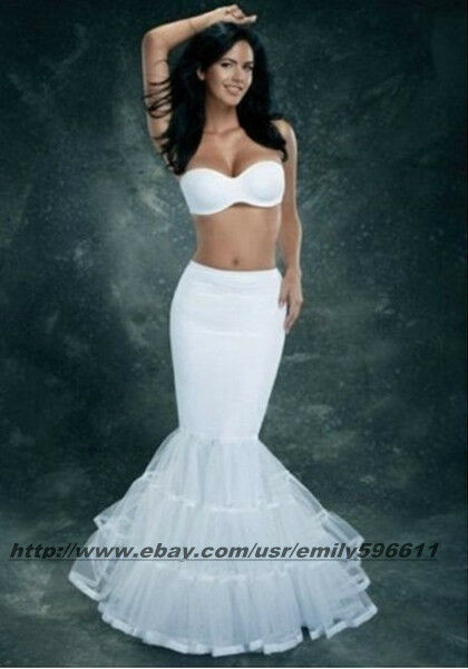 Ivory lycra tulle mermaid trumpet style wedding gown petticoat ivory lycra tulle mermaid trumpet style wedding gown petticoat crinoline slip junglespirit Images