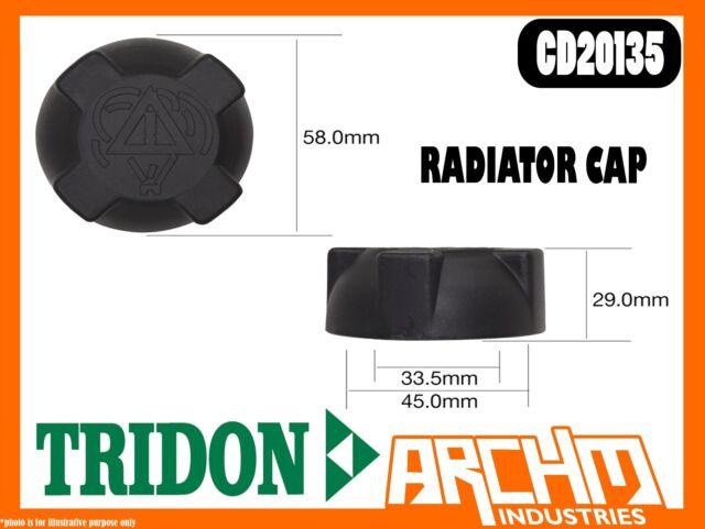 TRIDON CD20135 - RADIATOR CAP PLASTIC SCREW RECOVERY CD 20 PSI 135 KPA