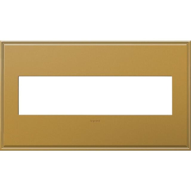 Legrand Adorne 4 Gang Wall Plate - Antique Nickel With Beaded Border ...