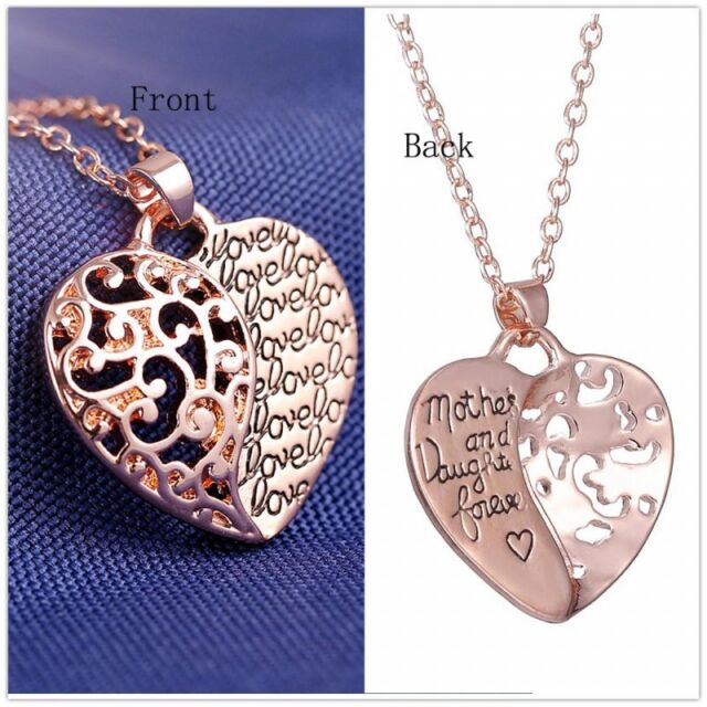 Trend Heart Love 18k Rose Gold  Personalize love Necklace Pendant Gift jewelry