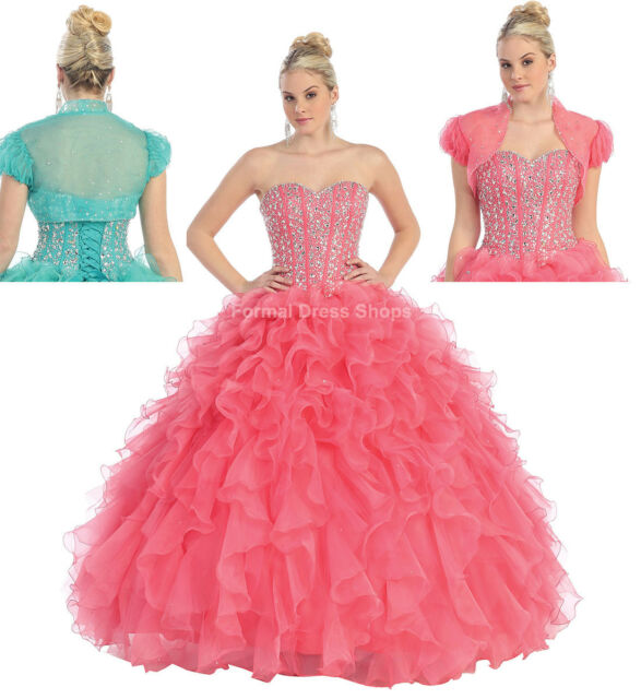Ball Room Gown Prom Special Occasion Bridal Attire Dress & Plus Size ...