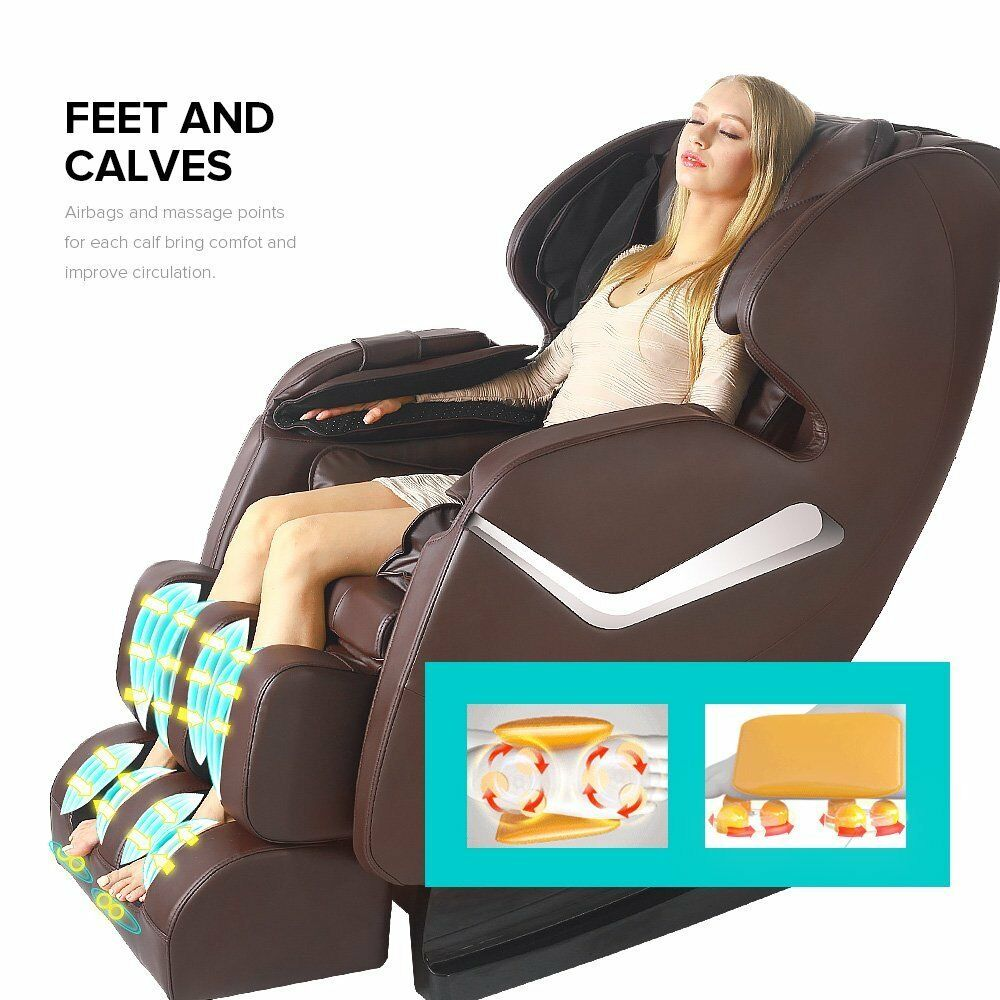 massage chair ebay. 2017 real relax full body shiatsu massage chair recliner zero gravity foot rest brown | ebay ebay
