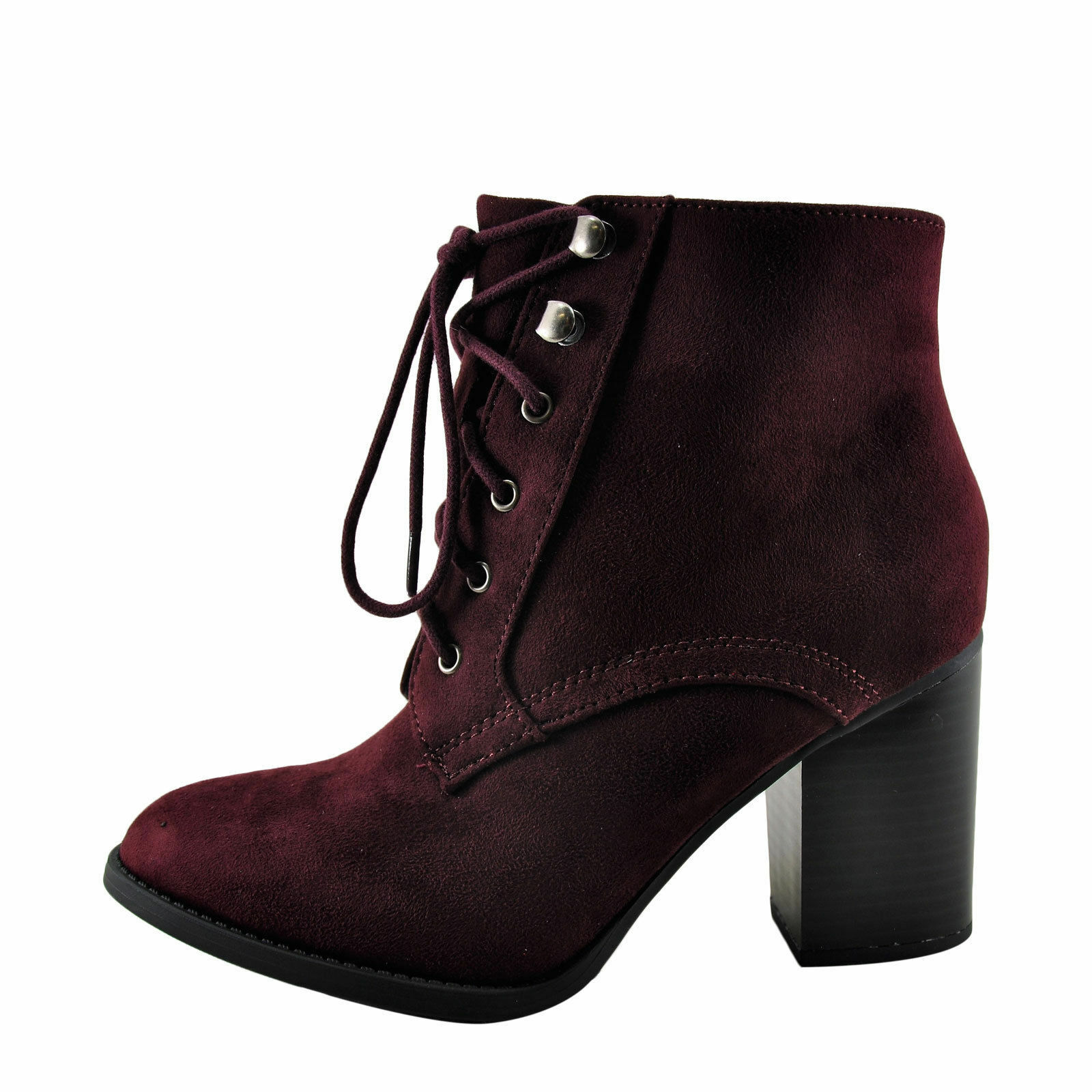 Lurk Women's Faux Suede Lace Up Bootie