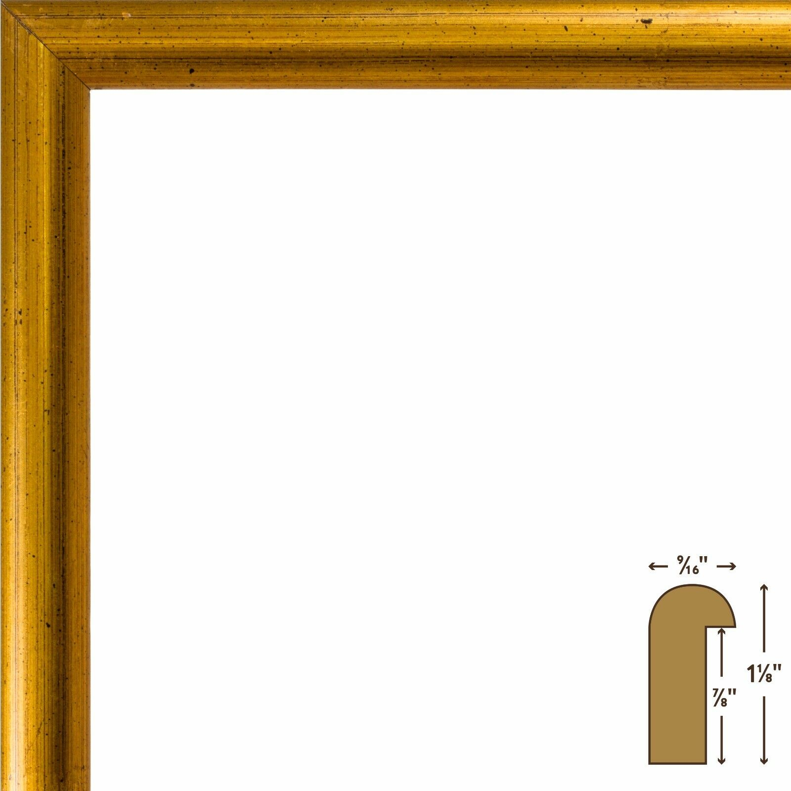 Craig Frames Dakota Bullnose Antique Gold Wood Picture Frame 20x26 ...