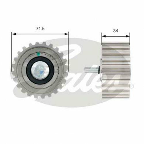 GATES Deflection/Guide Pulley, timing belt PowerGrip® T42183