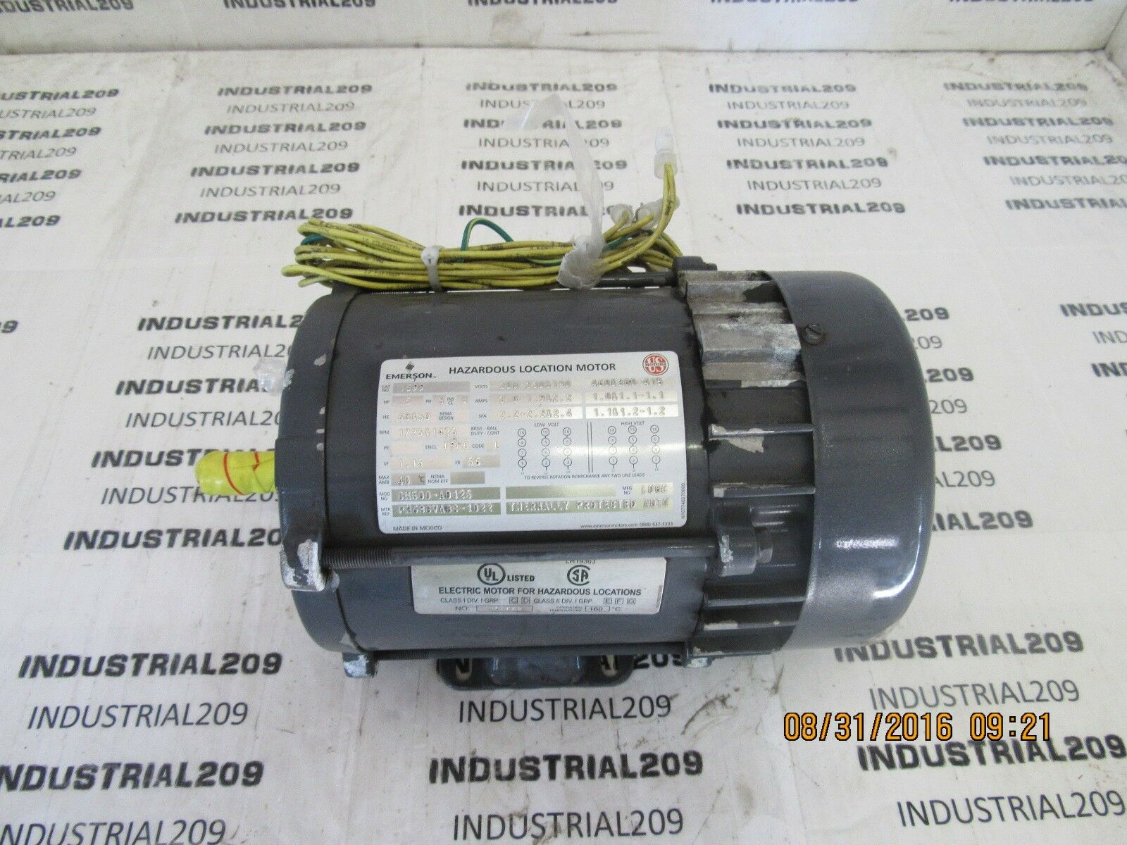 Emerson US Motors Cm500-a0125 Motor 1/2 HP 1725 RPM Ph3 FR 56