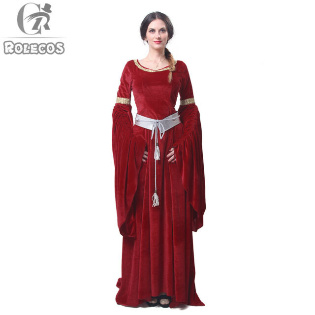 Picture 11 of 11  sc 1 st  eBay & Women Velvet Medieval Renaissance Dress Celtic Queen Gown LARP ...