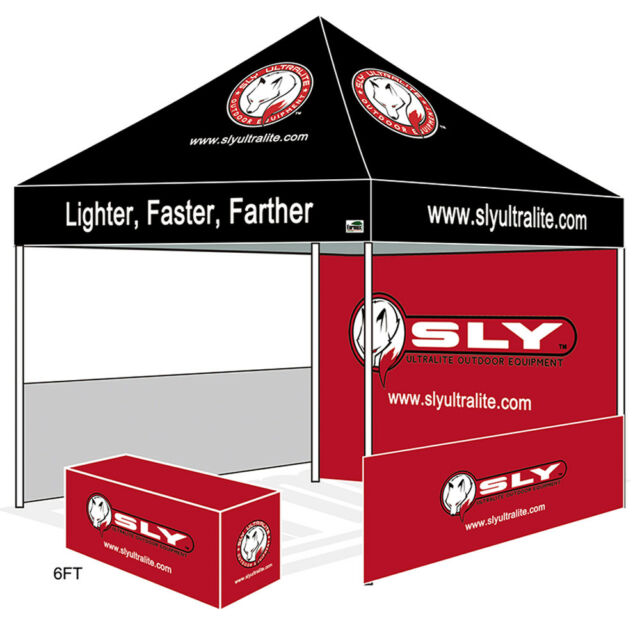 EZ Pop Up Canopy 10X10 Custom LOGO Printed Vendor Craft Trade Show Booth Tent  sc 1 st  eBay & 10x10 EZ Pop up Canopy Custom Logo Printed Vendor Tent Craft Show ...