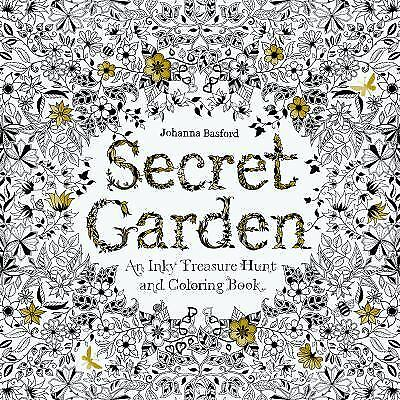 Secret Garden An Inky Treasure Hunt And Colouring Book By Johanna Basford 2013 Paperback