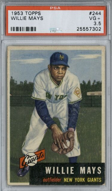 1953 Topps Willie Mays  #244  PSA 3.5 high end  dead centered