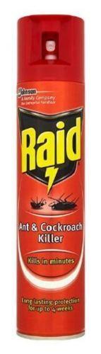 RAID LONG LASTING ANT & COCKROACH CRAWLING INSECT KILLER SPRAY 300ML