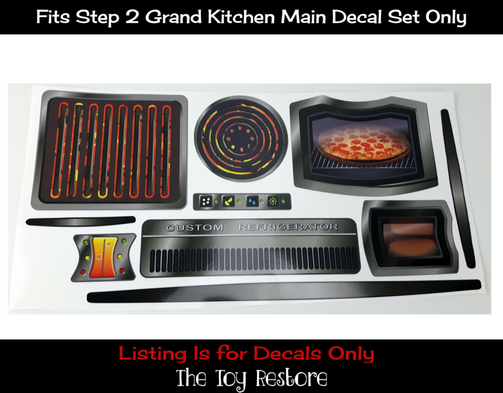 Replacement Decals Stickers Fits Step 2 Grand Walk in Kitchen Main