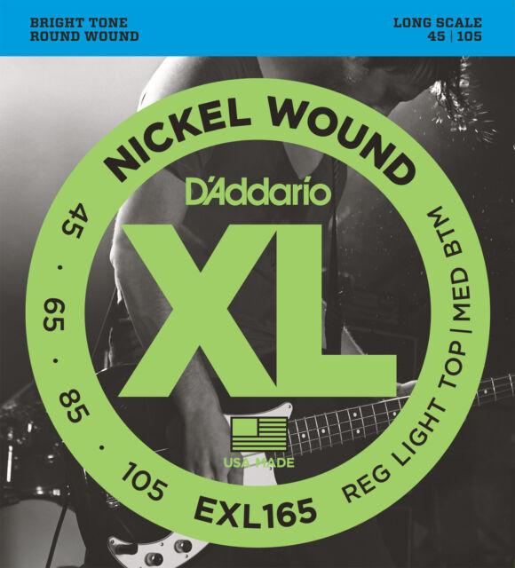 D'Addario EXL165 Long Scale Bass Guitar Strings C/Light 45 - 105
