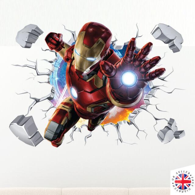 3D IRONMAN Wall Sticker Vinyl Art Home Bedroom Marvel Poster Avengers Hulk  Thor Part 51