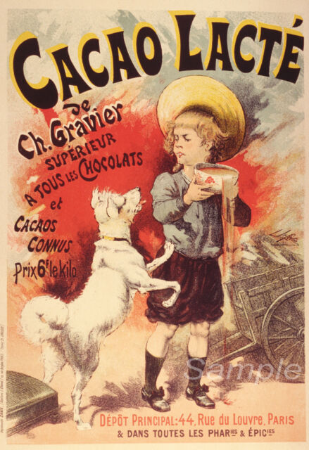Can french vintage chocolate advertisement topic
