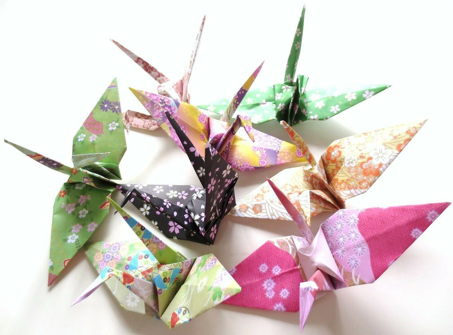 Origami handmade crane 8 japanese traditional pattern flower picture 1 of 3 jeuxipadfo Images