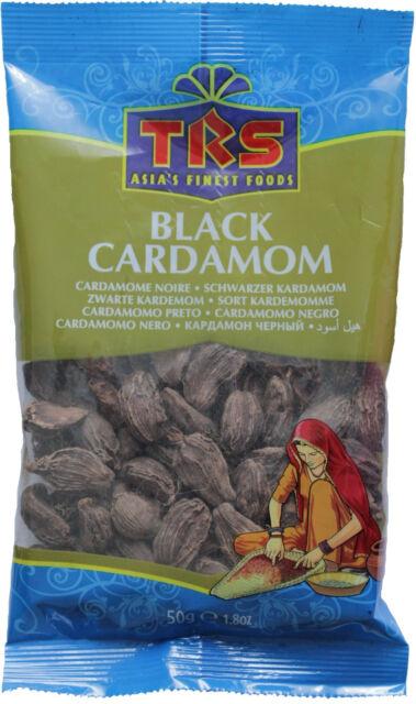 schwarzer Kardamom 50g ganze Kapseln Qualität >DAUERHAFT GÜNSTIG< black cardamom