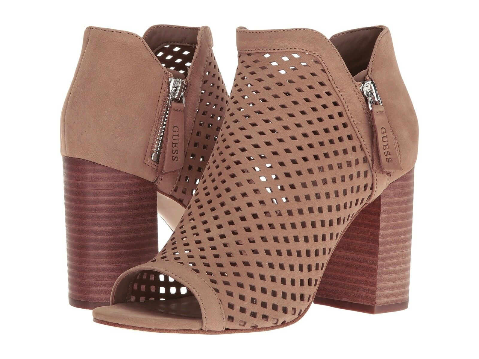 GUESS Women's Oana Ankle Bootie Taupe Size 7.5