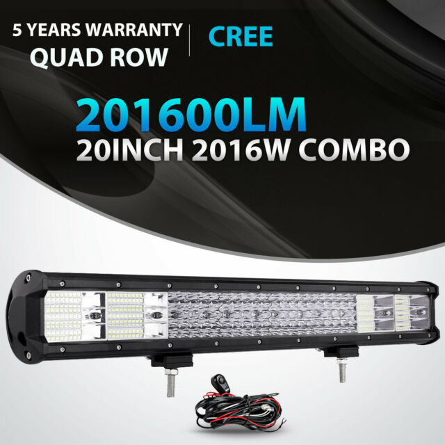 Quad row 20inch 2016w cree led light bar offroad 4x4wd jeep ford quad row 20inch 2016w led light bar combo offroad jeep ford truck suv 2223 mozeypictures Image collections
