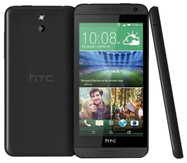 NEUF HTC DESIRE 610 4G LTE NOIR 8 MP CAMÉRA QUAD-CORE SMARTPHONE DÉBLOQUÉ