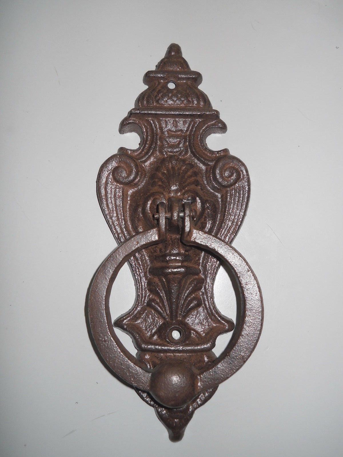 Cast Iron Antique Style VICTORIAN Door Knocker Brown Finish - Antique Door Knocker EBay